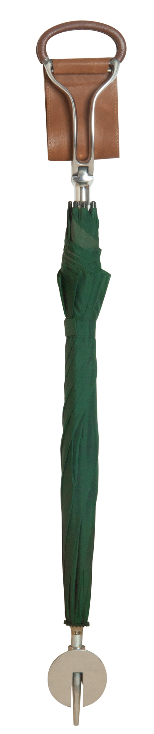 Classic Canes Umbrella Seat Stick With A Green Canopy